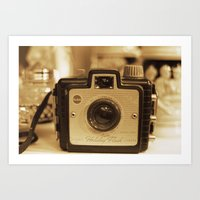1953 Brownie Holiday Camera Art Print