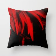 Mysterious Red Throw Pillow