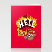 To Hell in a Puppy Basket Stationery Cards