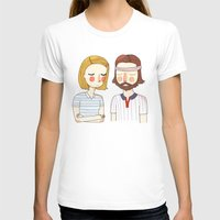 wes anderson T-shirts featuring Secretly In Love by Nan Lawson