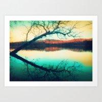 Sunrays Mark The Landsca… Art Print