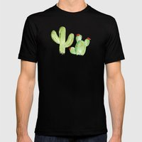 Desert Life Mens Fitted Tee Black SMALL