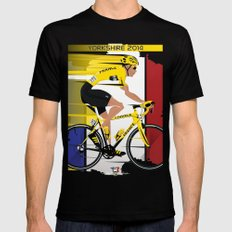 Grand Depart Yorkshire Tour De France  Black SMALL Mens Fitted Tee