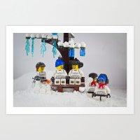 Snow Vortex Art Print