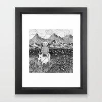 Sami fox Framed Art Print