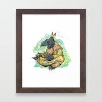 Peace And Luck Framed Art Print