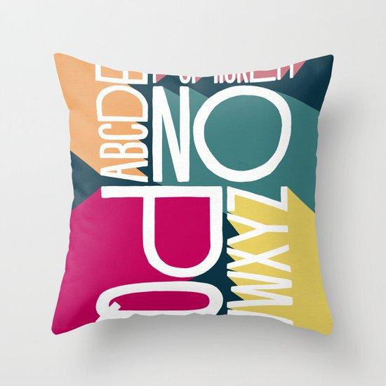 ALPHABET 1 Throw Pillow