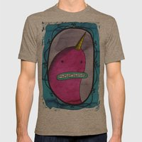 Narwhal Portrait Mens Fitted Tee Tri-Coffee SMALL