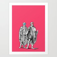 Classic men have a party Art Print