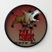 Bull Shark Version 2 Ani… Wall Clock