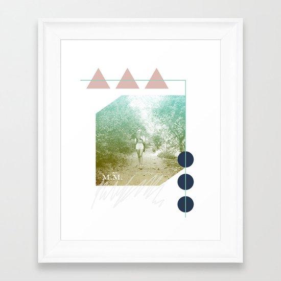 M.M. Collage Framed Art Print