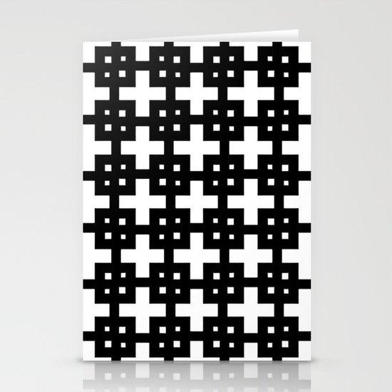 Telder Black & White Stationery Card
