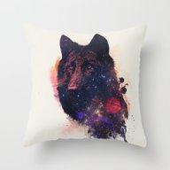 Throw Pillow featuring Universal Wolf by Robert Farkas