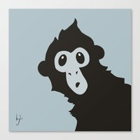 Spider Monkey - Peekaboo! Canvas Print