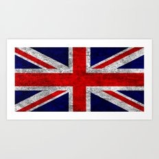 Union Jack Grunge Flag Art Print