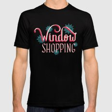 Window Shopping SMALL Black Mens Fitted Tee