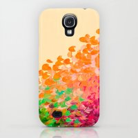 Galaxy S4 Cases featuring CREATION IN COLOR Autumn Infusion - Colorful Abstract Acrylic Painting Fall Splash Ombre Ocean Waves by EbiEmporium