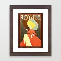 Retro french poster Framed Art Print