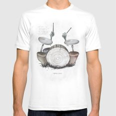 Mushroom drums Mens Fitted Tee SMALL White