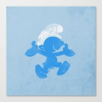 KRAZY BLUE Canvas Print