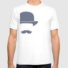 Gentleman Mens Fitted Tee SMALL White