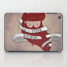 Bearded woman iPad Case