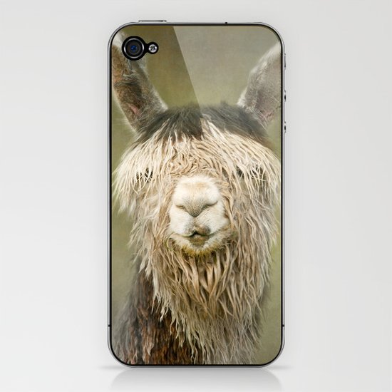 Alpaca with a fringe..! iPhone & iPod Skin