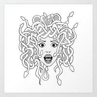 Foolish Medusa (b&w) Art Print