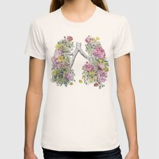 Floral Anatomy Lungs Womens Fitted Tee Natural SMALL