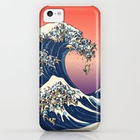 iPhone 5c Cases featuring The Great Wave of Pug   by Huebucket
