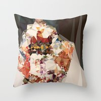 Polygonal Kimono Impress Throw Pillow