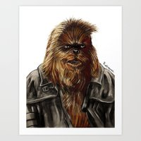 Wulchok the Wookiee Bounty Hunter Art Print
