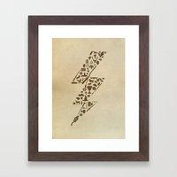 Lightning Never Strikes … Framed Art Print
