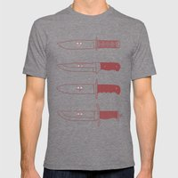 Staring daggers Mens Fitted Tee Tri-Grey SMALL