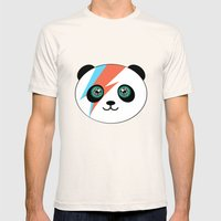 Bowie Panda  Mens Fitted Tee Natural SMALL