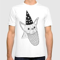 Dog Wizard Mens Fitted Tee White SMALL