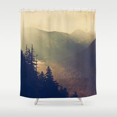 Sunrise over the Mountians Shower Curtain