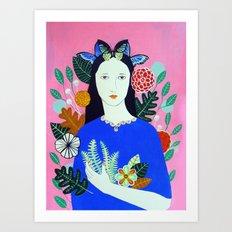 Portrait of Amrita Art Print