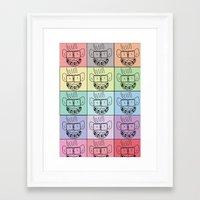 Pixel Geek Framed Art Print