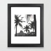 Posto 10 B&W Framed Art Print