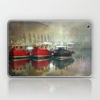 Fishing Boats At Seahous… Laptop & iPad Skin