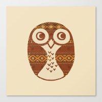 Navajo Owl  Canvas Print