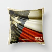 Grunge Sticker Of Texas … Throw Pillow