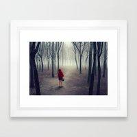 Away From Light Framed Art Print
