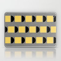 shapes in yellow, grey and black Laptop & iPad Skin