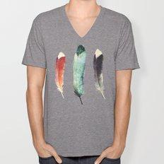 Feathers Unisex V-Neck