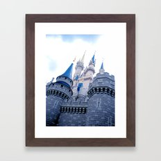 Disney Castle In Color Framed Art Print