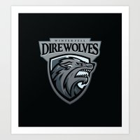 Winterfell DireWolves Art Print