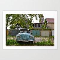 Vintage Volkswagon Art Print