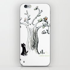 Little Cat and birdy iPhone & iPod Skin
